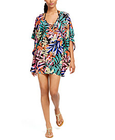 Bar III Hidden Jungle Printed Tunic Cover-Up, Created for Macy's