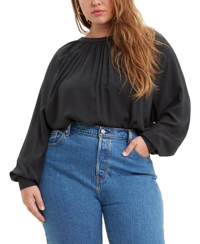 Levi's - Trendy Plus Size Lily Shirred Top