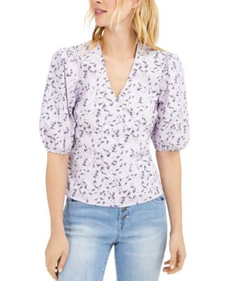 INC Floral Puff-Sleeve Blouse, Created for Macy