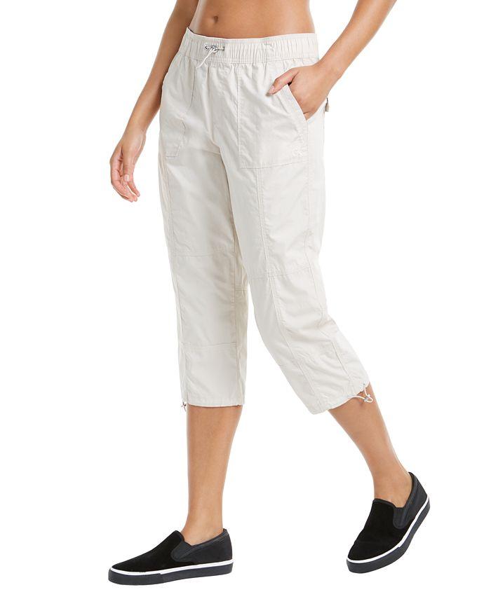 Calvin Klein - Printed Smocked Waistband Cargo Pants