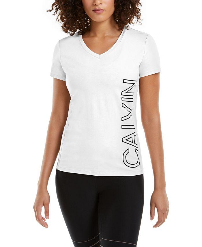 Calvin Klein - Outline-Logo V-Neck T-Shirt