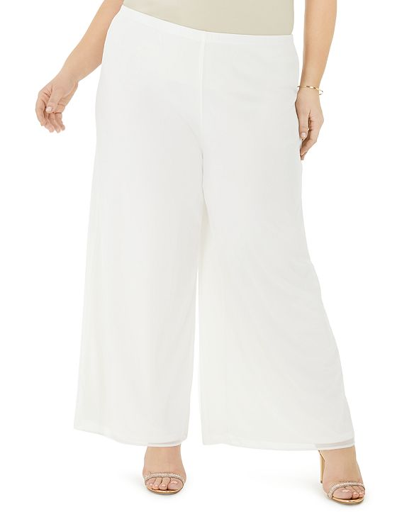 MSK Plus Size Mesh Wide-Leg Pants