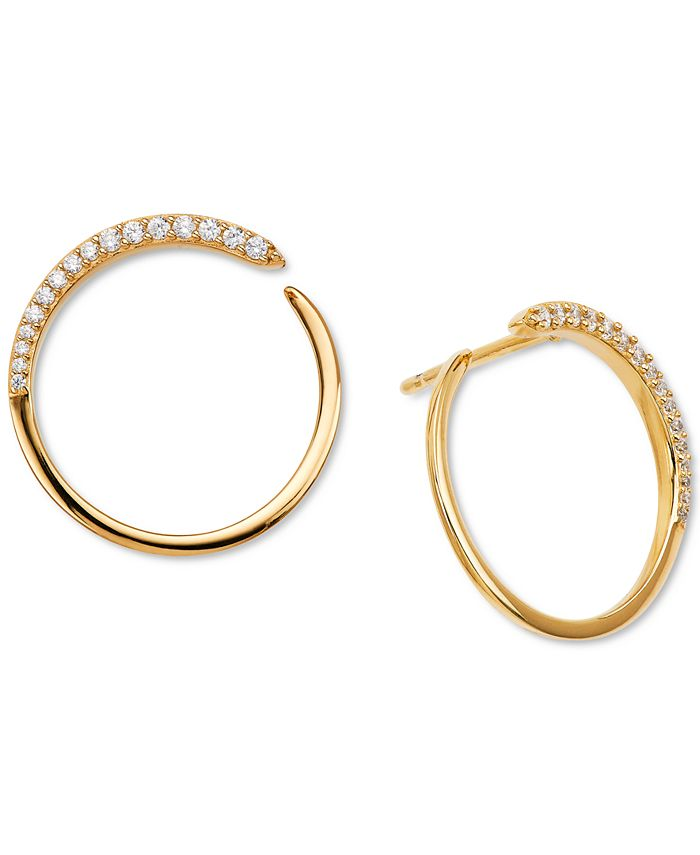 AVA NADRI - Crystal Wrap-Around Hoop Earrings