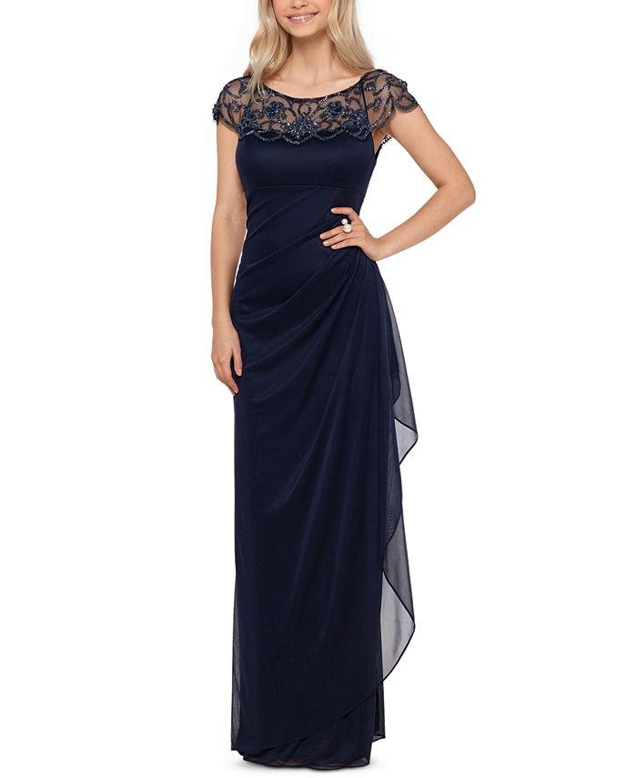 XSCAPE - Embellished-Neck Gown