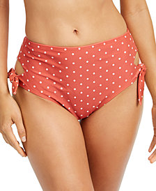 SUNDAZED Printed Cutout Side-Tie Bikini Bottoms, Created for Macy's
