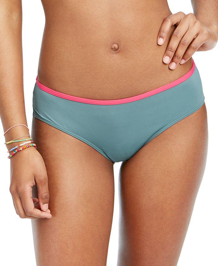 Roxy - Juniors' Swim In Love Colorblocked Bikini Bottoms