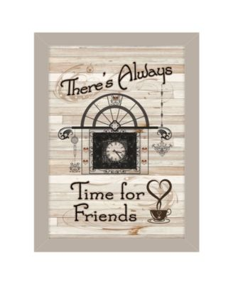 Time for Friends by Millwork Engineering, Ready to hang Framed Print, Sand Frame, 10