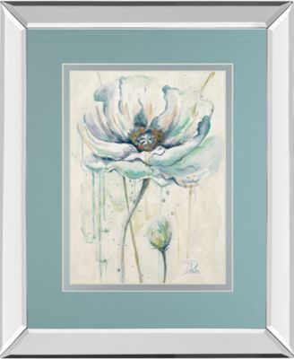 Fresh Poppies Il by Patricia Pinto Mirror Framed Print Wall Art - 34