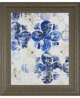Blue Quatrefoil I by Patricia Pinto Framed Print Wall Art, 22