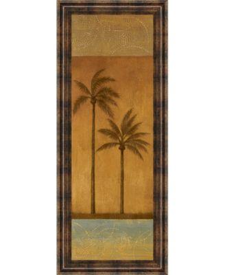 Golden Palm Il by Jordan Grey Framed Print Wall Art - 18