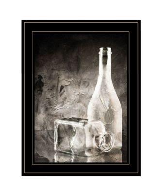 Moody Gray Glassware Still Life by Bluebird Barn, Ready to hang Framed Print, White Frame, 15