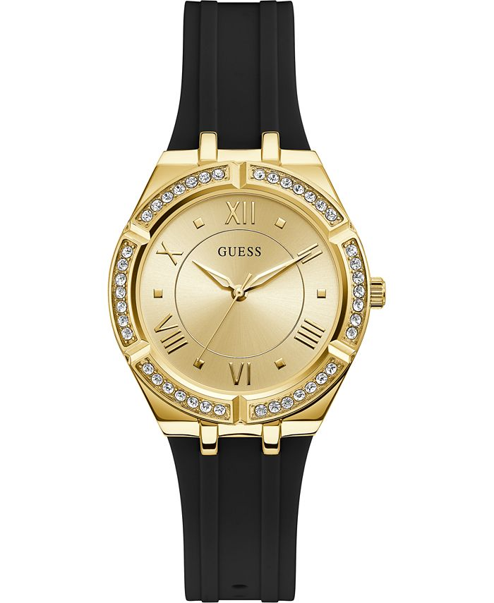 GUESS - Women's Black Silicone Strap Watch 36mm