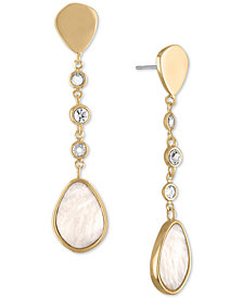 RACHEL Rachel Roy Gold-Tone Stone Linear Drop Earrings