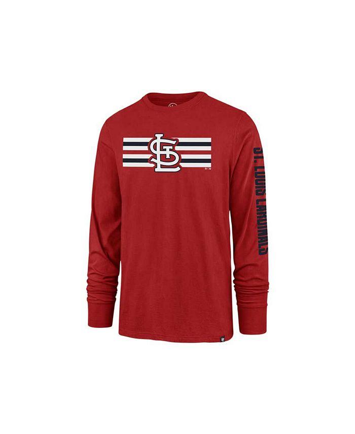 '47 Brand - St. Louis Cardinals Men's Cross Stripe Long Sleeve T-Shirt