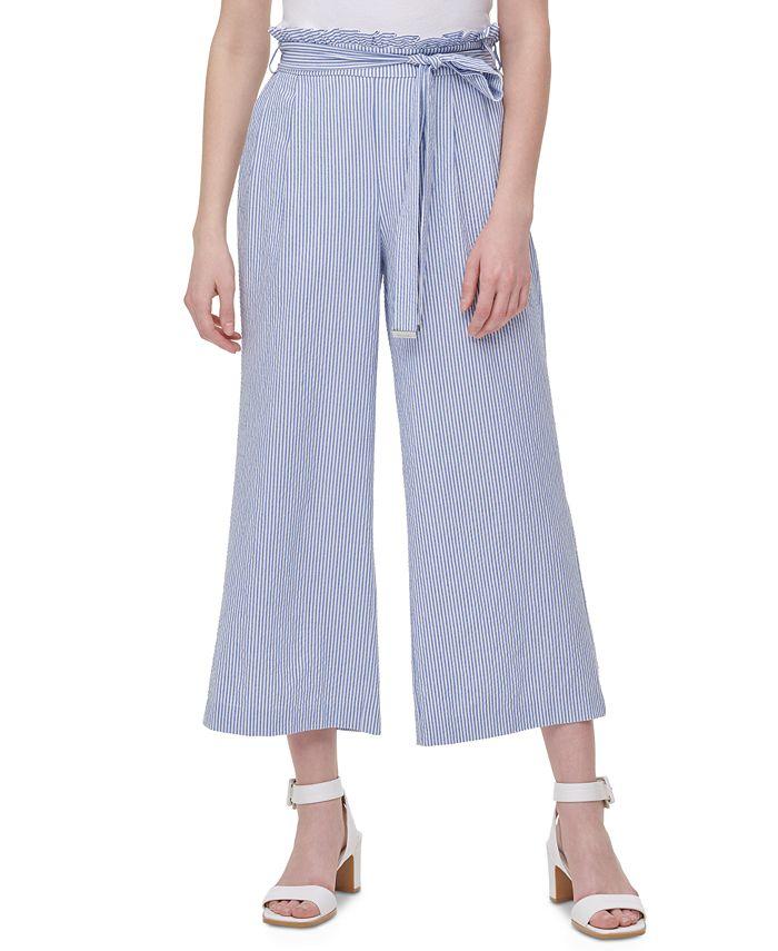 Calvin Klein - Belted Wide-Leg Pants