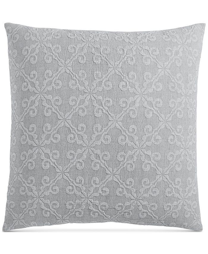 "Charter Club - Damask Designs Woven Tile Cotton 258-Thread Count 26"" x 26"" European Sham"