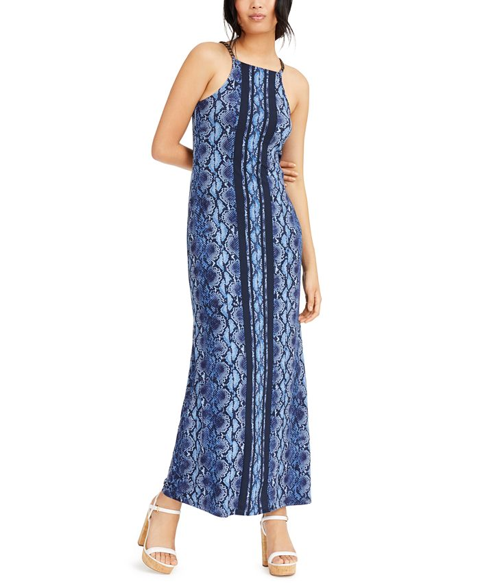 Michael Kors Chain Link Python Print Maxi Dress Reviews Dresses Women Macy S
