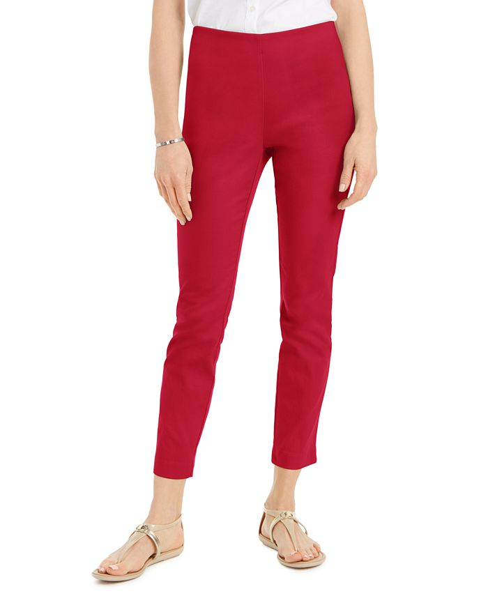 Charter Club - Petite Stretch Twill Cropped Pants