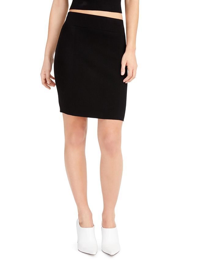 Bar III - Ribbed Sweater Skirt
