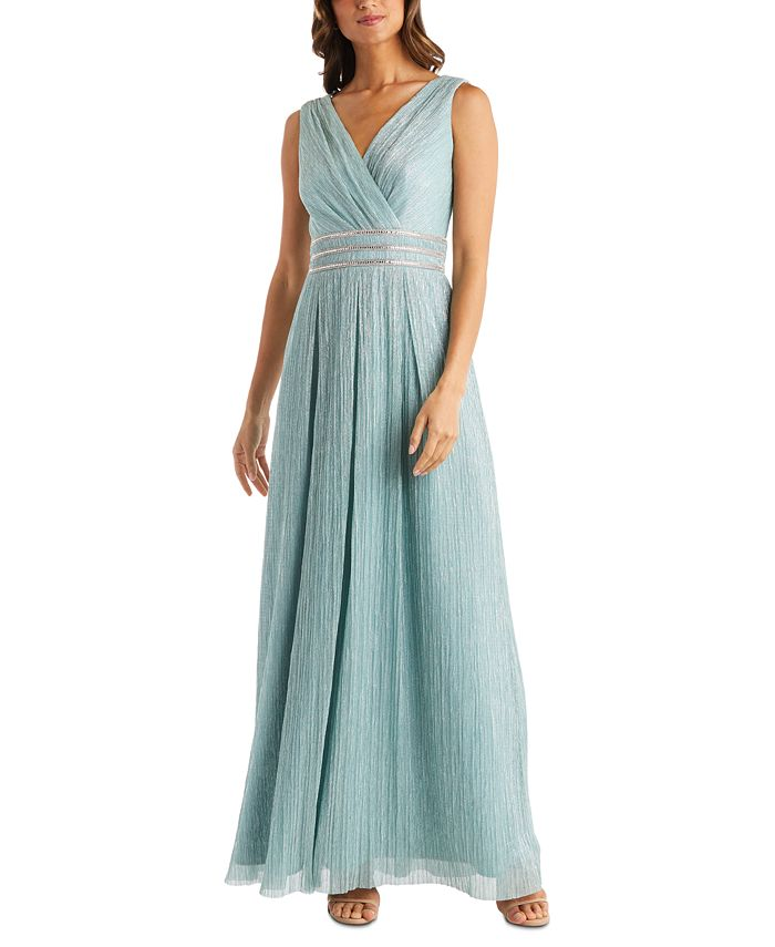 R & M Richards - Crinkle Pleated Gown