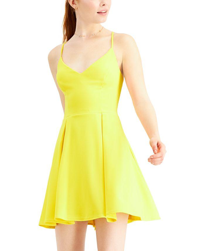 B Darlin - Juniors' V-Neck A-Line Dress