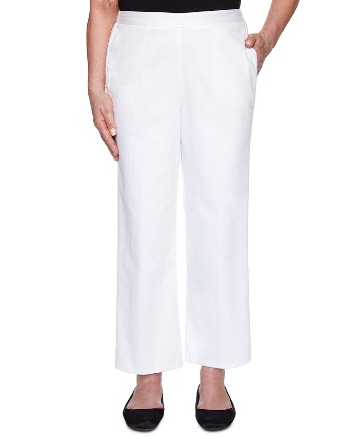 Alfred Dunner - Petite Checkmate Denim Pull-On Pants