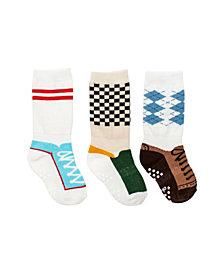 Cheski Sock Company Baby Boys Mixed Shoe Knee Socks, Pack of 3