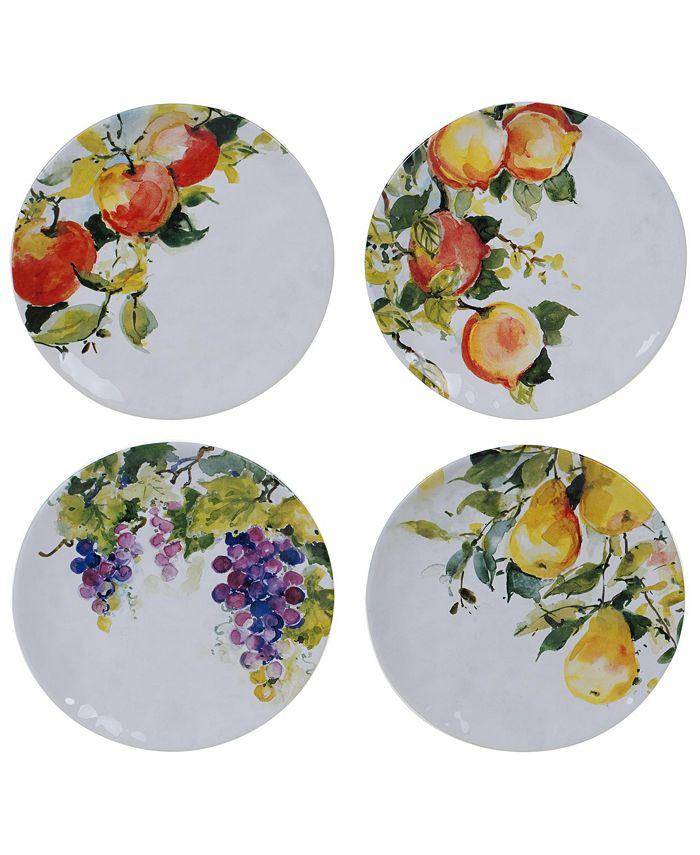 Certified International - Ambrosia 4-Pc. Salad Plates asst.