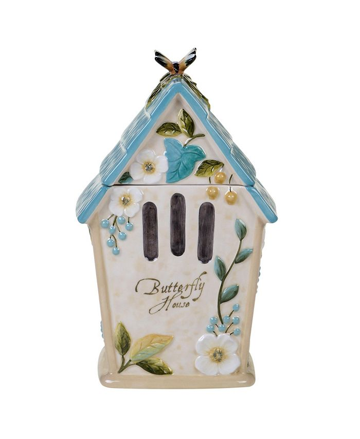 Certified International - Nature Garden 3-D Birdhouse Cookie Jar