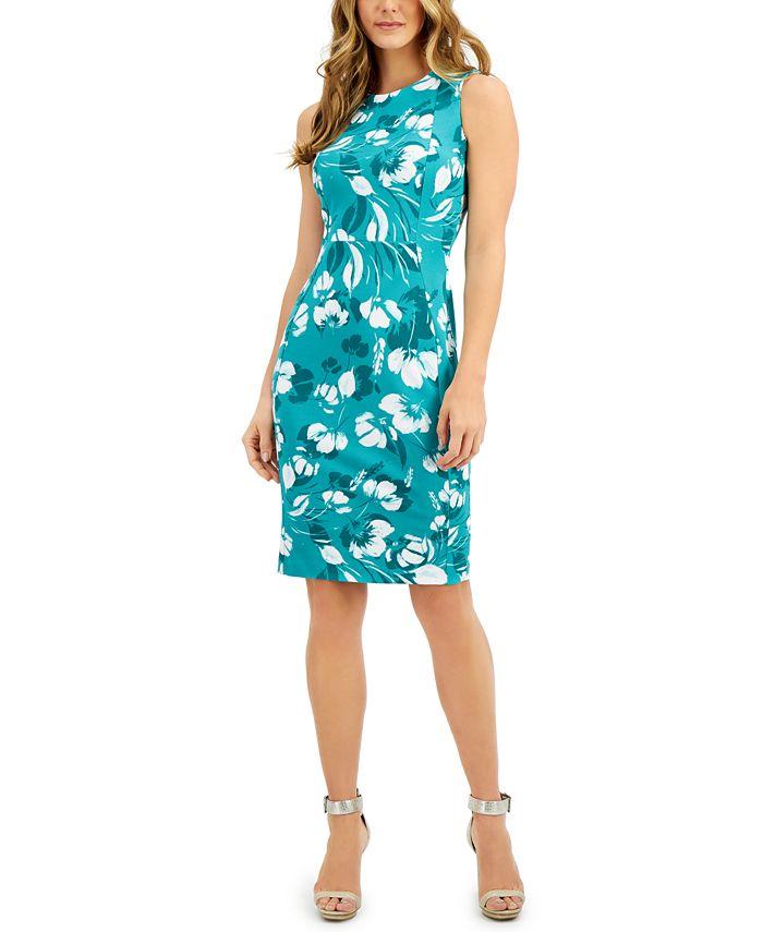 Calvin Klein - Petite Floral-Print Sheath Dress