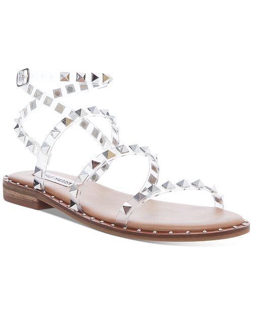 Steve Madden Women S Travel Rock Stud Flat Sandals Reviews Sandals Shoes Macy S Steve madden has the perfect sandals with which you pretty ladies can show your legs! women s travel rock stud flat sandals