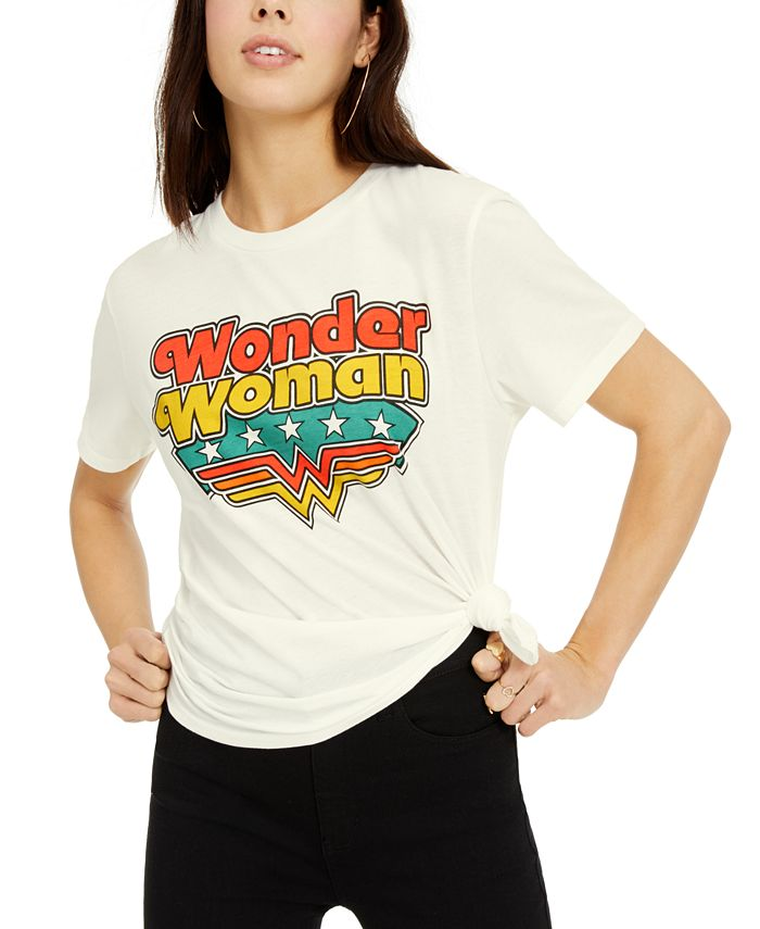 DC Comics - Juniors' Disney Wonder Woman Logo Graphic T-Shirt