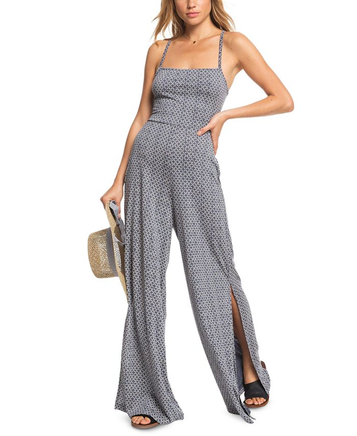 Roxy - Juniors' One Last Time Strappy-Back Jumpsuit