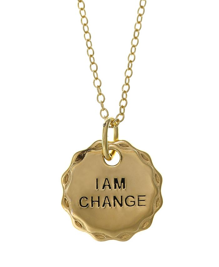 Girl Rising - Sterling Silver Pendant Necklace - I am Change