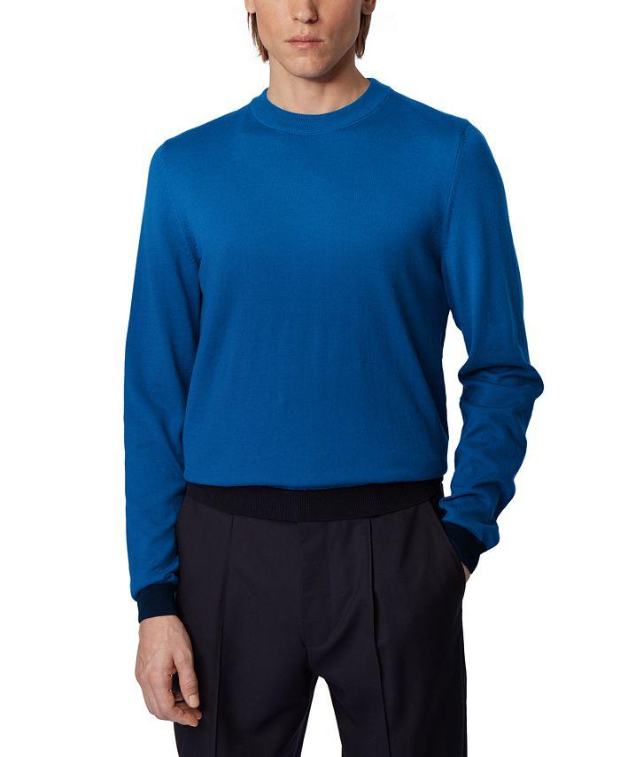 Hugo Boss - Men's Omanolo Medium Blue Sweater