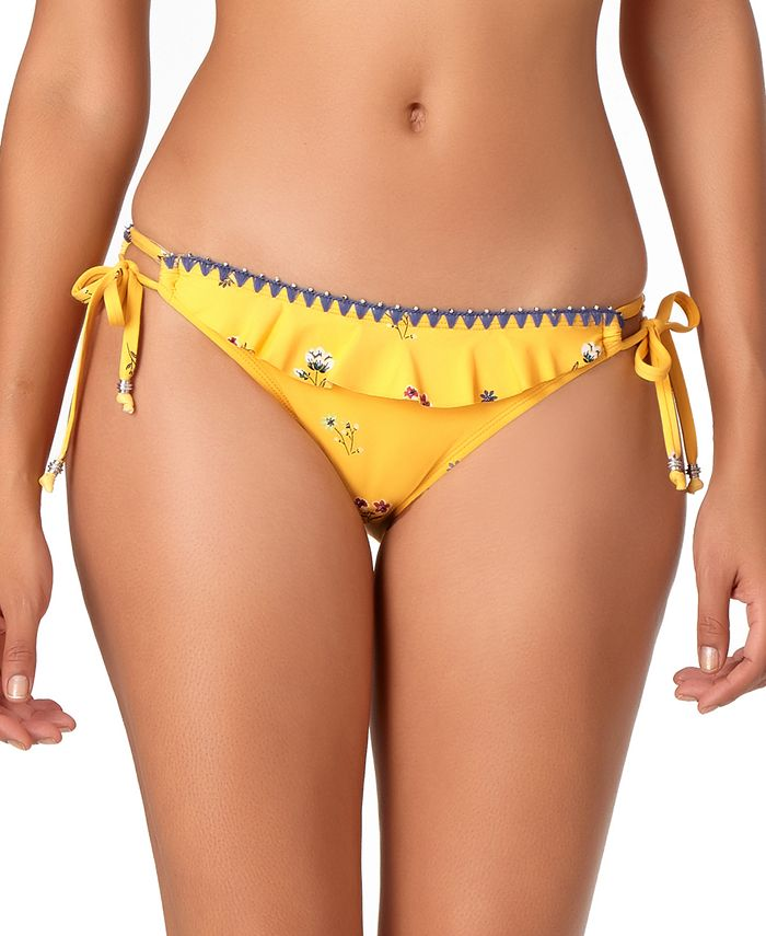 Anne Cole - Printed String Tie-Side Hipster Bikini Bottoms
