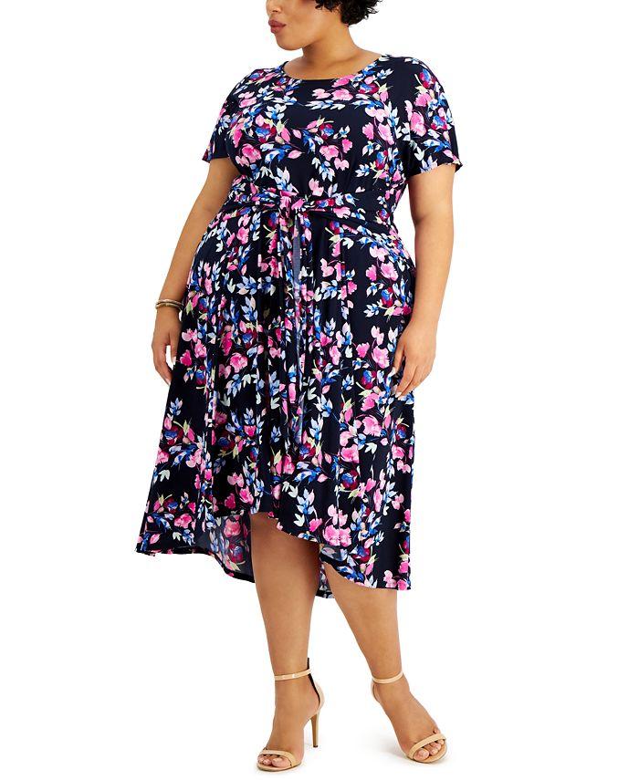 Robbie Bee - Plus Size High-Low Dress