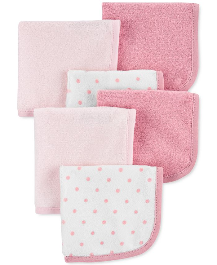 Carter's - Baby Girls 6-Pk. Washcloths