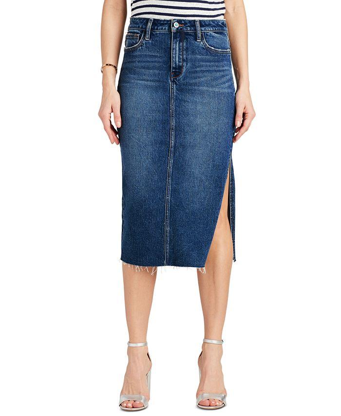 Sam Edelman - The Maribelle Side-Slit Denim Skirt