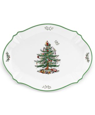 Spode Serveware, Christmas Tree Sculpted Oval Platter
