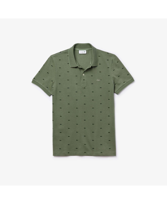 Lacoste Men's Slim Fit Short Sleeve Micro Croc Print Cotton Pique Polo Shirt & Reviews - Polos - Men - Macy's