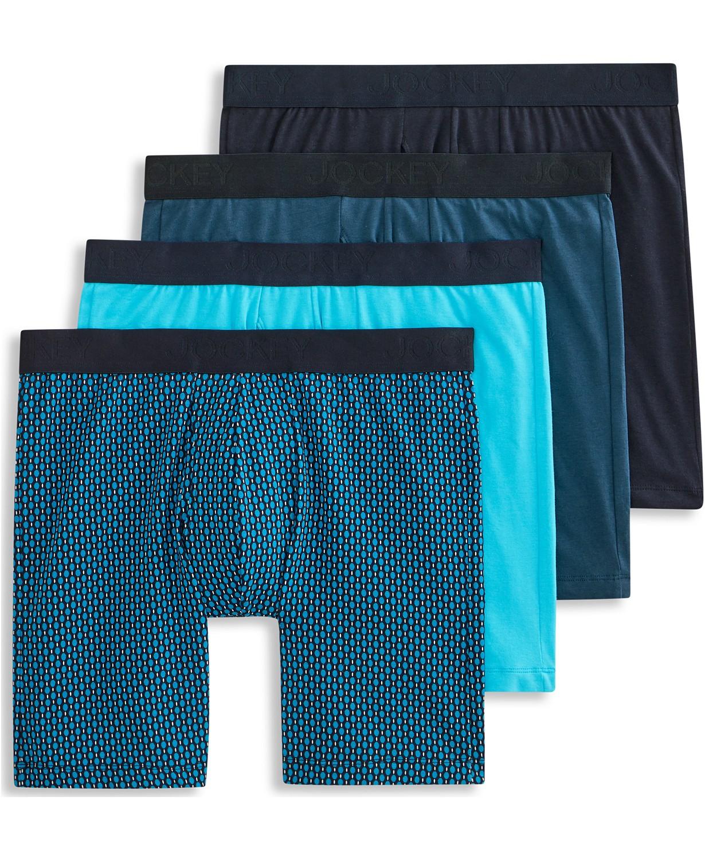 4-Pack Jockey Men's Flex 365 Cotton Stretch Boxer Brief