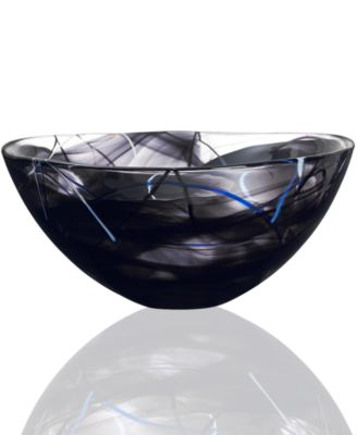Kosta Boda Crystal Bowl, Contrast Large