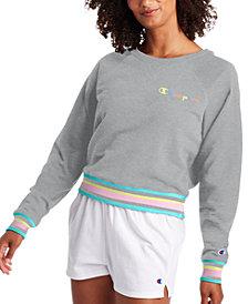 Champion Women's Campus Varsity-Stripe Sweatshirt