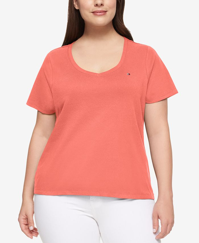 Tommy Hilfiger - Plus Size Cotton V-Neck T-Shirt