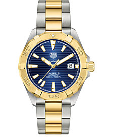 TAG Heuer Men's Swiss Automatic Aquaracer Stainless Steel & 18K Gold-Plated Bracelet Watch, 41mm