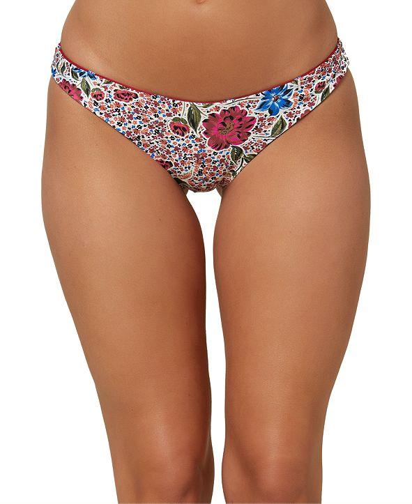 O'Neill Juniors' Palmas Stripe Reversible Classic Bikini Bottoms