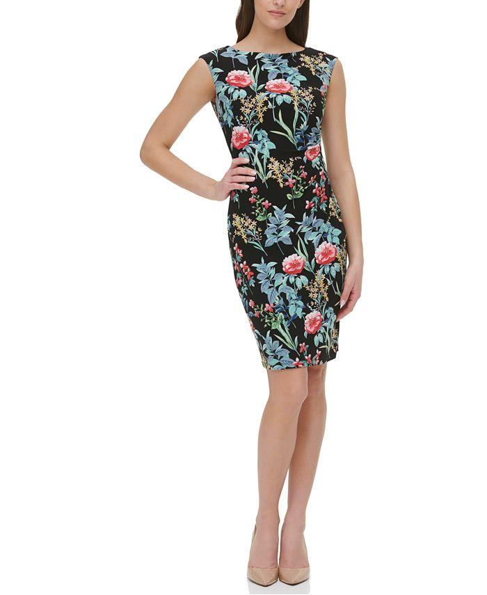 Tommy Hilfiger - Floral-Print Sheath Dress