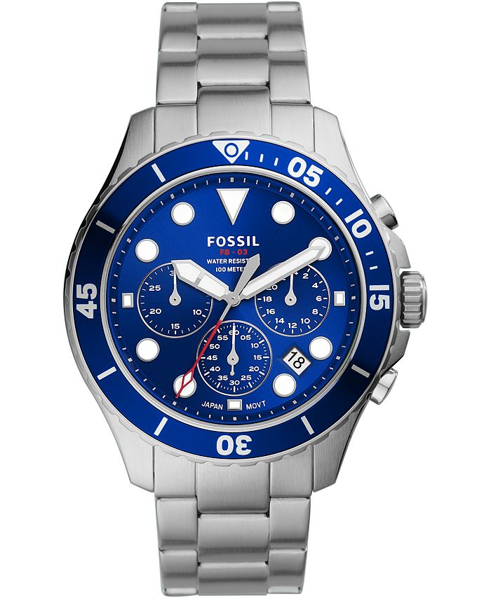 Fossil - Men's Chronograph FB-03 Stainless Steel Bracelet Watch 46mm