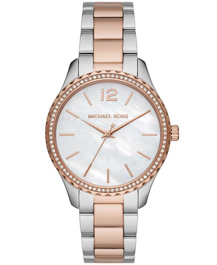 Michael Kors - Layton Three-Hand Two-Tone Stainless Steel Watch